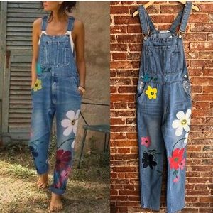 Miss Look painted overalls